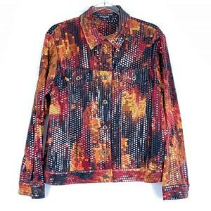 Notations Woman Jacket 1X Embellished Multi Color